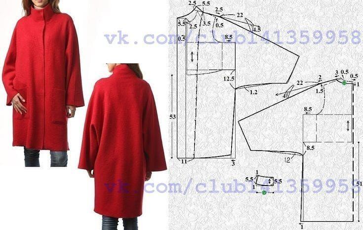 дмитриева пальто с цельнокроеным рукавом своими руками фото для печати