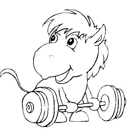 Dessin cheval cirque a colorier dessin colorier et - Dessin a colorier cheval ...