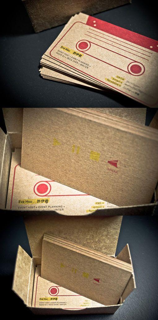 ラジオDJの名刺。 カセット型名刺はどれもカワイイ。 Radio DJ Business Card
