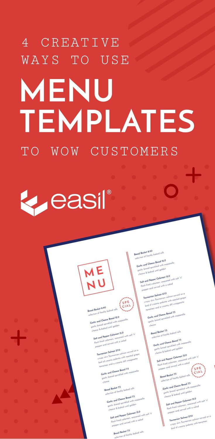 4 Creative ways to wow your customers with menu templates