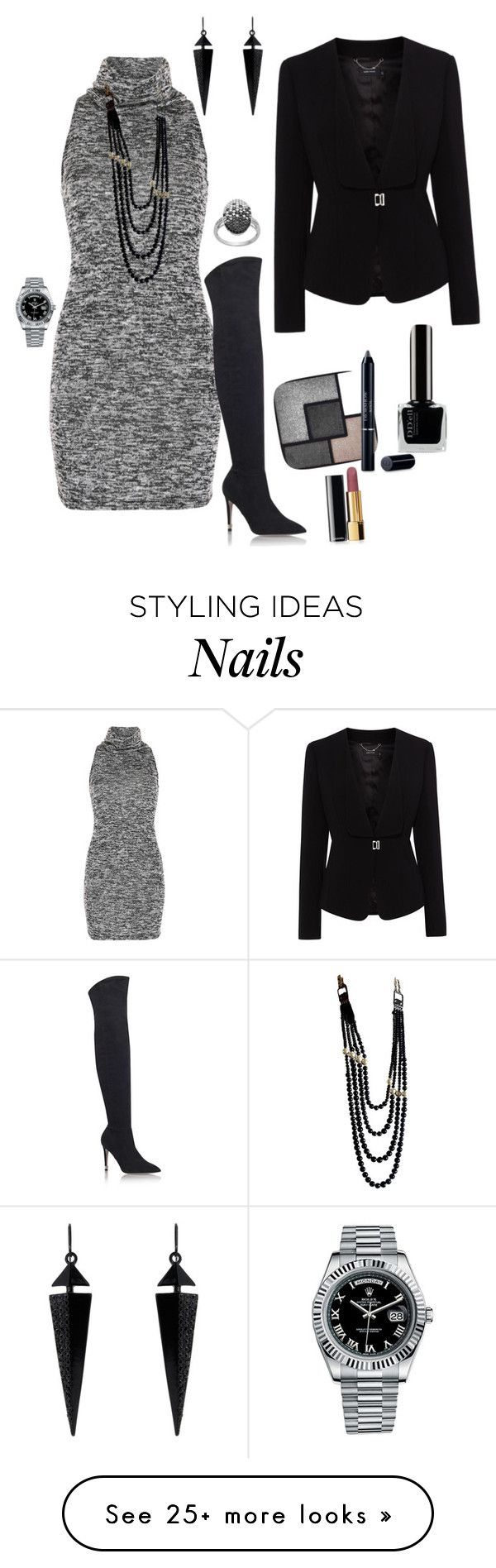 """Untitled #1526"" by greenrain on Polyvore featuring Voulez Vous, Miss KG, Oasis, Chanel, Rolex, Karen Millen, Yves Saint Laurent and Christian Dior"