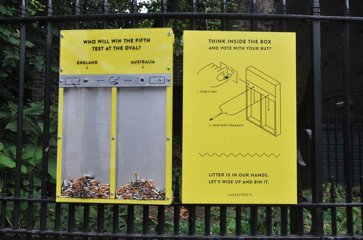 Voting per Zigarettenstummel: So hält man die Straßen sauber! | i-ref.de
