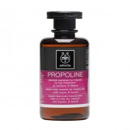 PROPOLINE Women's Tonic Shampoo for Thinning Hair with lupin & laurel. #Revitalization #Invigoration #Hydration #IndepthCleansing # Hair loss is due both to internal and external factors. Women's Tonic Shampoo for Thinning Hair revitalizes hair roots, strengthens and nourishes lifeless hair, improve its look and leaves scalp healthy by protecting from adverse environmental factors (harmful sun rays, pollution). Read more at www.apivita.com