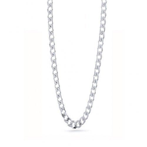 Bling Jewelry Sterling Silver Mens Curb Cuban Chain Necklace 150 Gauge 20in