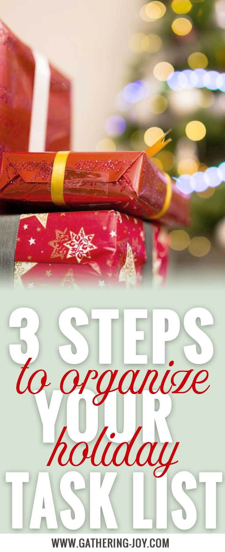 Overwhelmed with your holiday task list? Follow these three steps to a peaceful Christmas. And get your free gift!