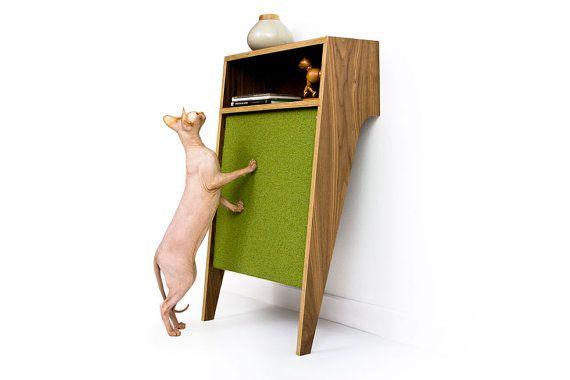 SALE - 25% OFF! ~ Cat Console /// Mid Century Modern Pet Furniture // Cat Scratcher // Console Table