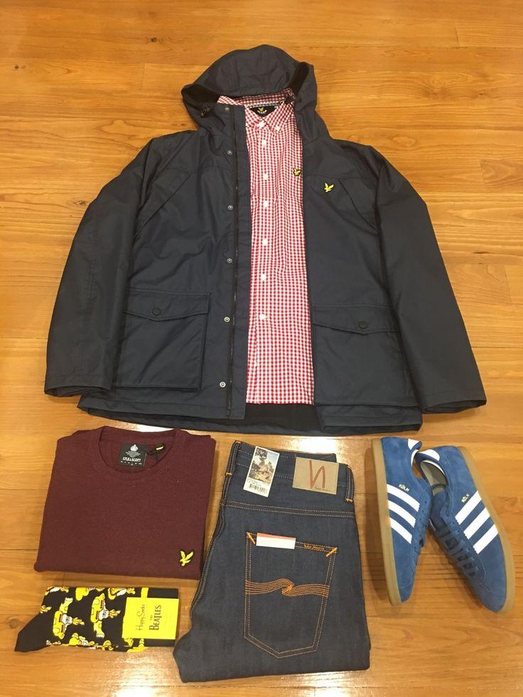 "Blog #RivendelMadrid ""British Outfit @lyle_and_scott ""  #lyleandscott #cazadora #jacket #jersey #jumper #camisa #shirt #nudiejeans #pantalones #denim #adidasoriginals #zapatillas #footwear #happysocks #calcetines #socks #guardarropa #wardrobe #madrid http://www.rivendelmadrid.es/blog/"