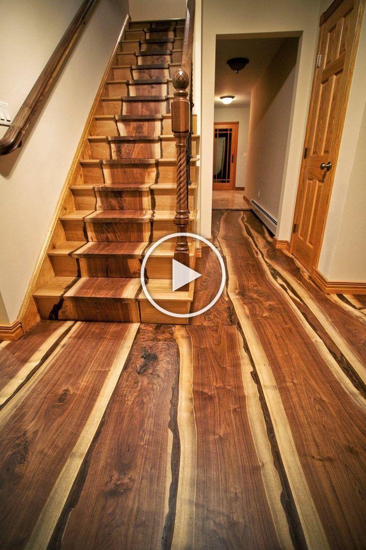 Black walnut live edge flooring beautiful wood floor
