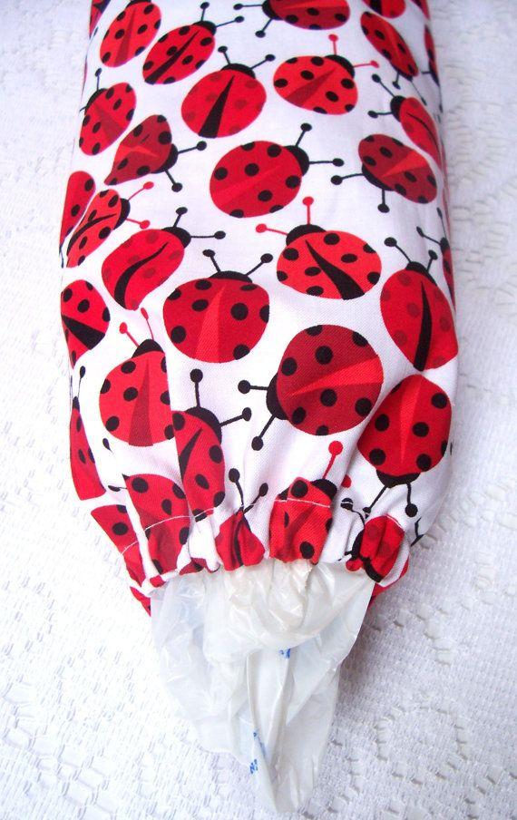 Ladybugs Plastic Grocery Bag Holder Dispenser by pattispotpourri, $14.00