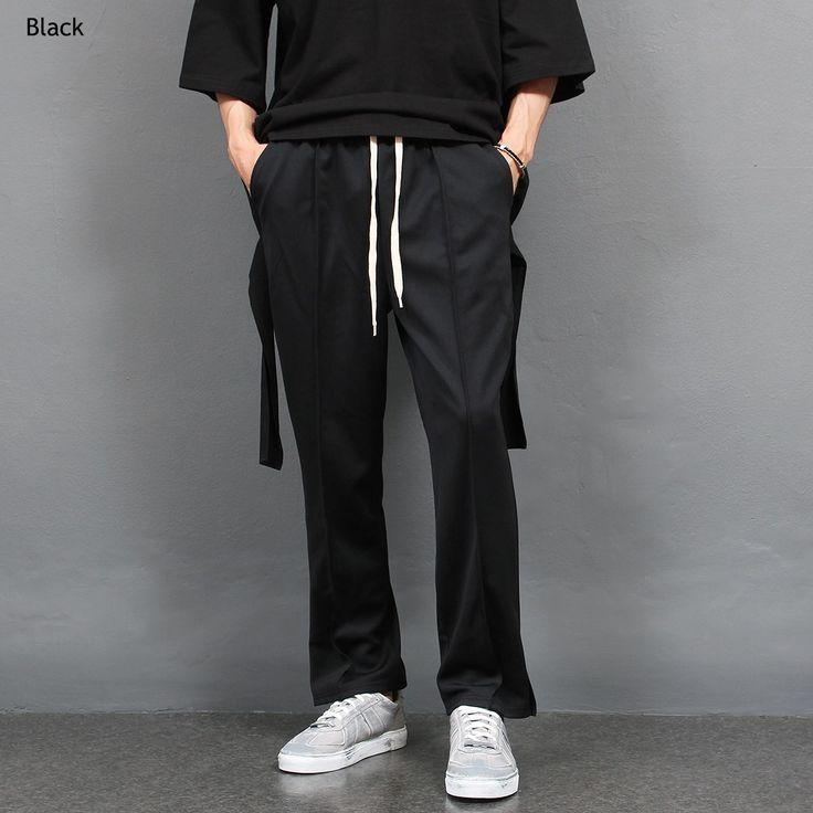 Loose Fit Split Hem Jersey Track Pants