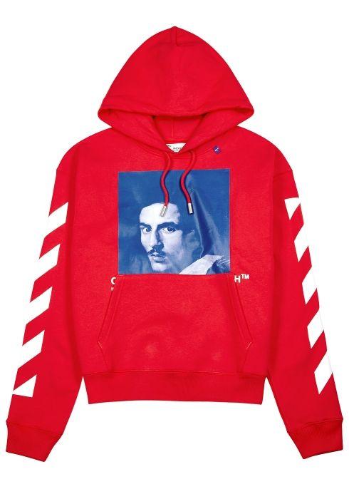 b9e9ab178 Bernini red logo print sweatshirt - Off-White