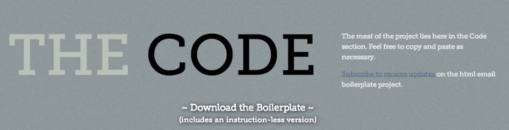 HTML Email Boilerplate | Code & Download