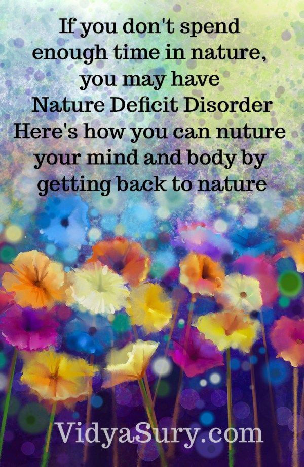 nature deficit disorder Nature deficit disorder was first coined by author richard louv in his book last child in the woods, which mainly focuses on children and their lack of connection with nature according to louv, ndd in children is contributed by many things, from being raised in an urban environment, to parents who are afraid of a little dirt or skinned knee.