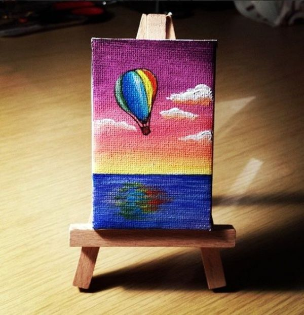 40 Easy Mini Canvas Painting Ideas For Beginners To Try Art Small Paintings