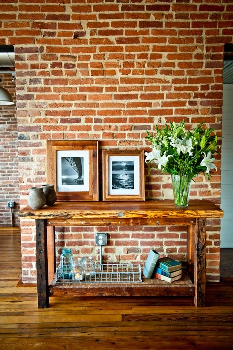 Sandtown Millworks....awesome pieces made from reclaimed wood in Baltimore. Love this one and the lath end table.