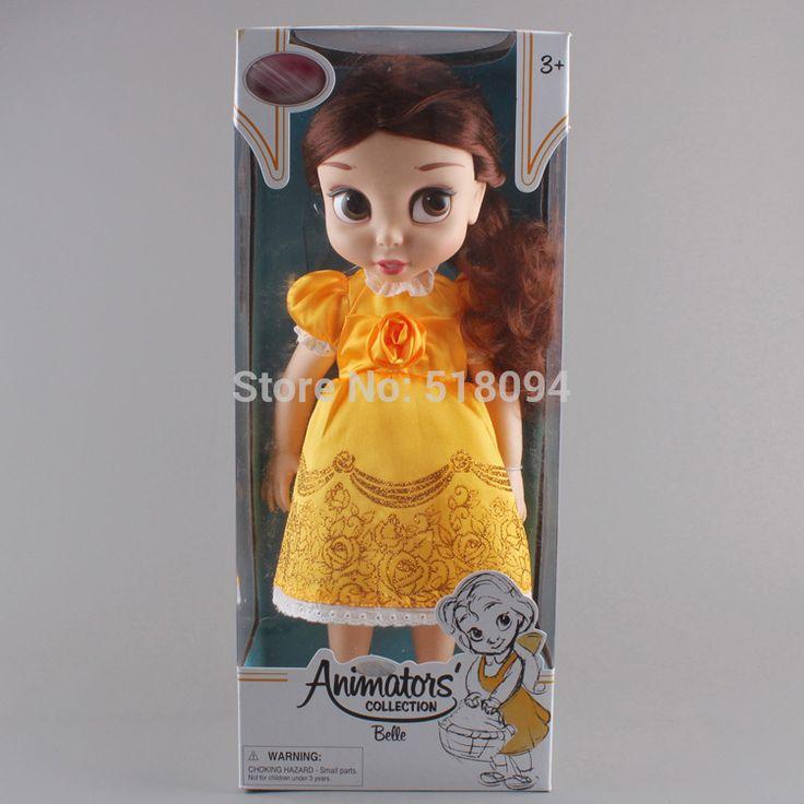 Бесплатная доставка аниматоры коллекция принцесса белль пвх фигурку девушки куклы и игрушки подарки 16  40 см DSFG173