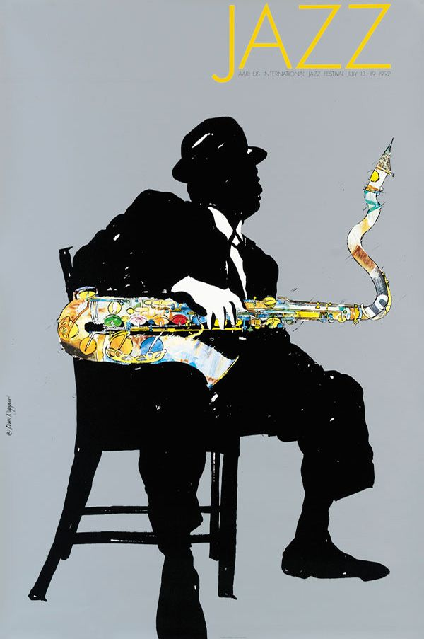 Aarhus Jazz Festival 1992   Finn Nygaard Design (obviously Ben Webster - inspired by a great photo)