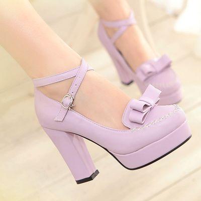 Japanese sweet bow cute kawaii heeled shoes from Fashion Kawaii [Japan & Korea]