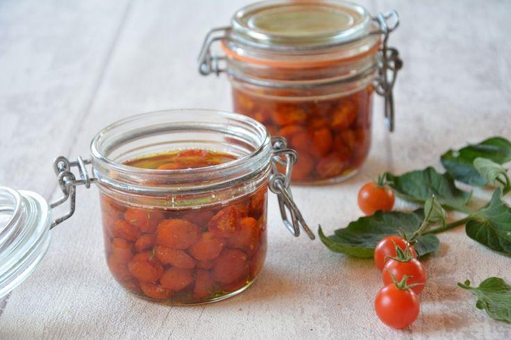 Conserve tomate cerises confites huile d'olive - facile et rapide - Au Fil du Thym
