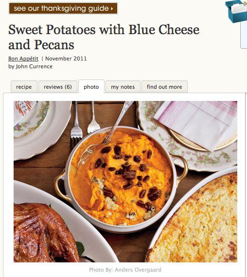 Невыразимая легкость кулинарного бытия...: Пюре из сладкого картофеля с пеканами и сыром