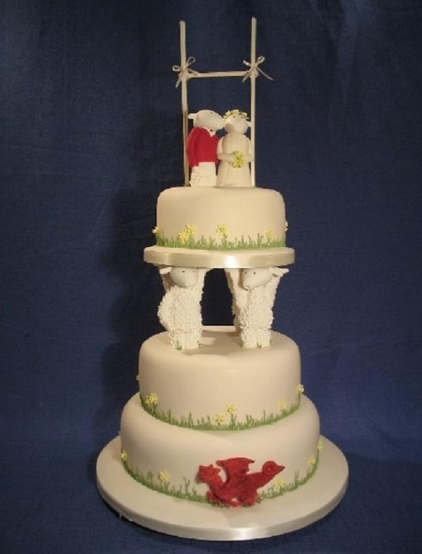 Dragons and Daffodils famous Rugby Sheep wedding cakes ...