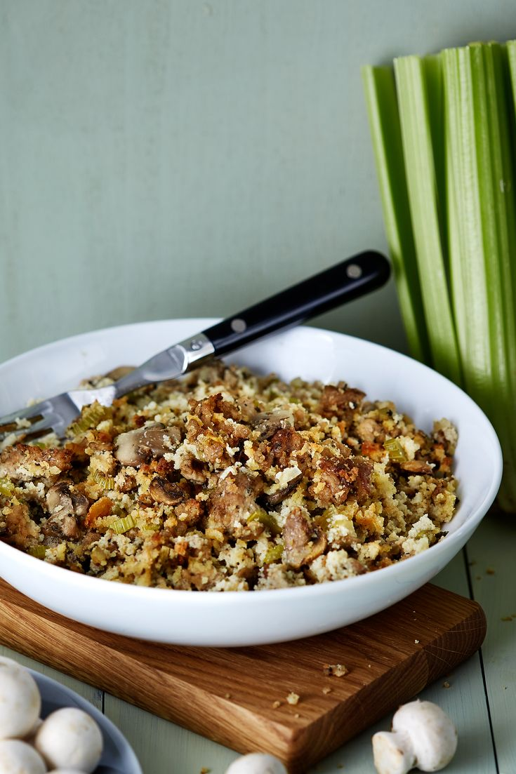 Enjoy this delicious low-carb stuffing the next time you roast a chicken. The celery, onion, and poultry seasoning hit all the right, familiar notes. Yes, you CAN enjoy stuffing without feeling stuffed!