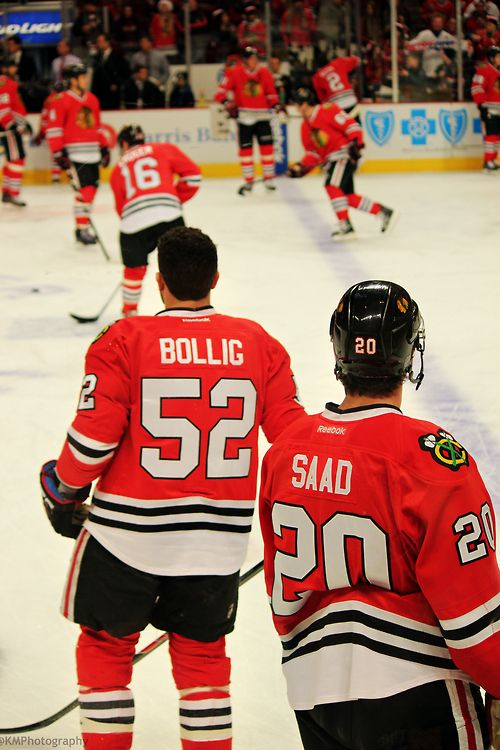 Brandon Bollig and Brandon Saad. Go Blackhawks! Blackhawks HockeyHockey  TeamsChicago ...