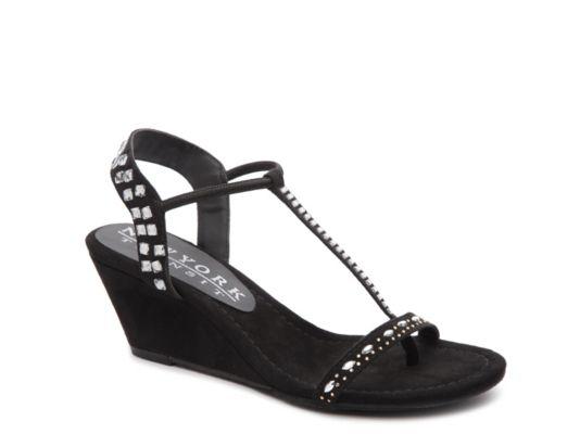 Women's Women Bright Lady Wedge Sandal -Black - Black