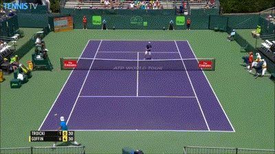 Viktor Troicki jumps the net to retrieve a ball http://ift.tt/1LSwdEL Love #sport follow #sports on @cutephonecases