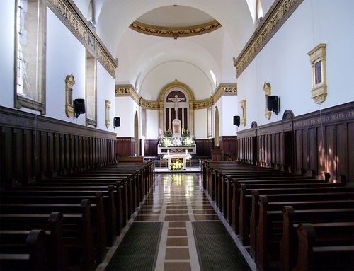 Interior of Mary's Chapel on the Chalon Campus, Mount St. Mary's College. this was one of the first places I sang as a young freshman. Sr. Teresita-I thank you