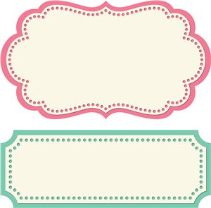 2 label shapes by Lori Whitlock