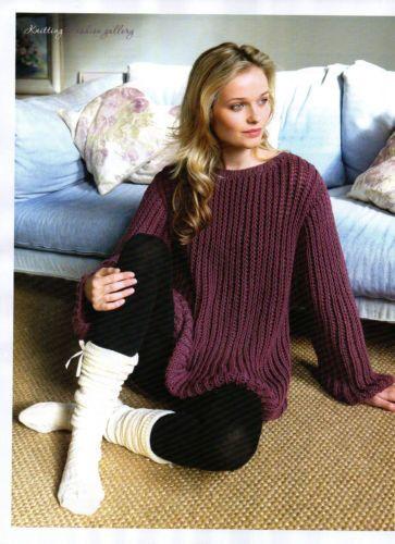 ladys jumper knitting pattern 99p by Heritageknitting1 on Etsy