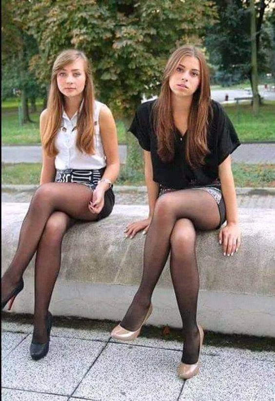 Teenies in nylon