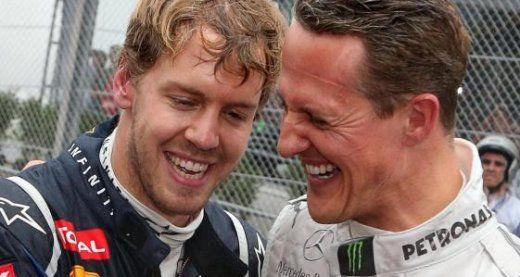 Sebastion Vettel, and Michael Shumacher