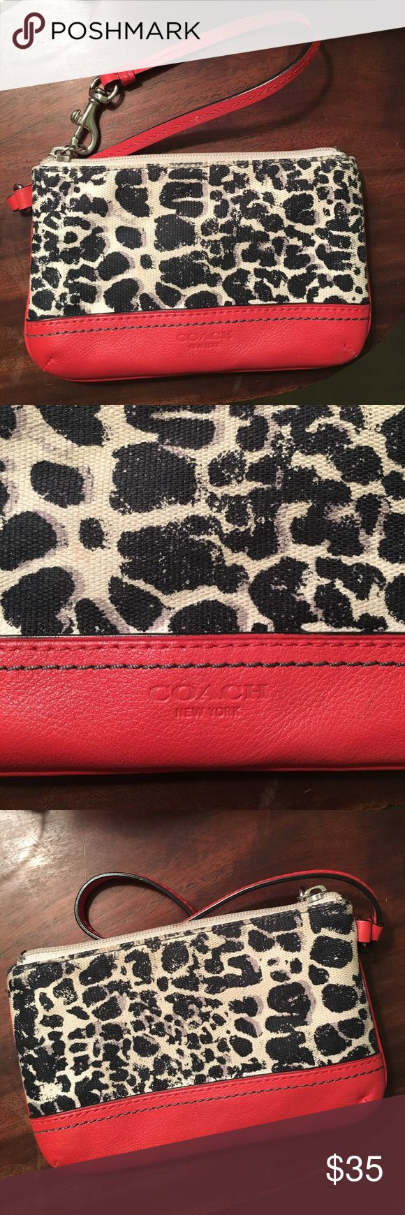 Coach Legacy Ocelot Wristlet Coach legacy ocelot wristlet! There is a discount for two or more items in a bundle! Coach Bags Clutches & Wristlets