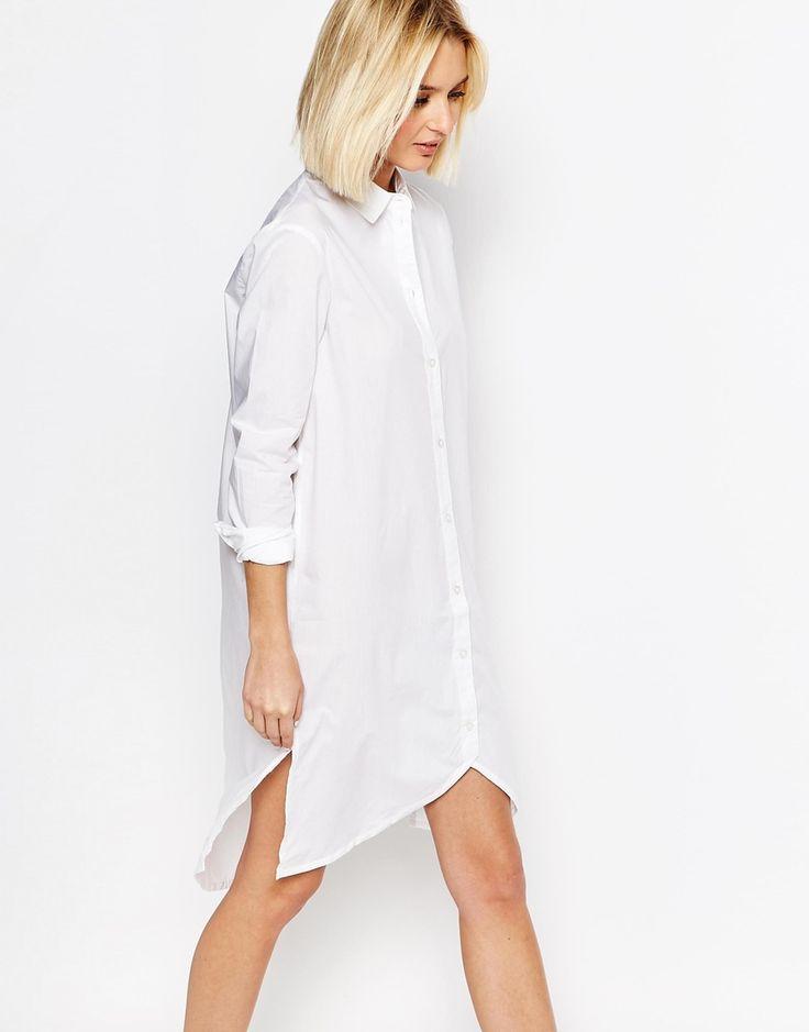 Image 1 of ADPT Longline Shirt With Asymmetric Hem