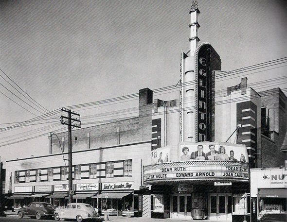 I know this is a cinema and not exactly the same as what we're creating, but I love the marquee and I think we could possibly do something similar. - Whitney