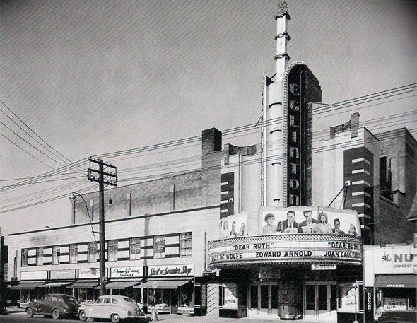 The Eglinton Theater, Toronto, Ontario, 1940s. #Toronto #History #Vintage