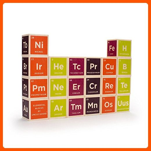 Uncle Goose Periodic Table Blocks - Made in USA - Toys for big kids (*Amazon Partner-Link)