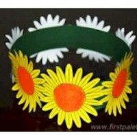 Flower Crown is a great Craft for Daisy Girl Scouts. Free Printable pattern included. www.freekidscrafts.com