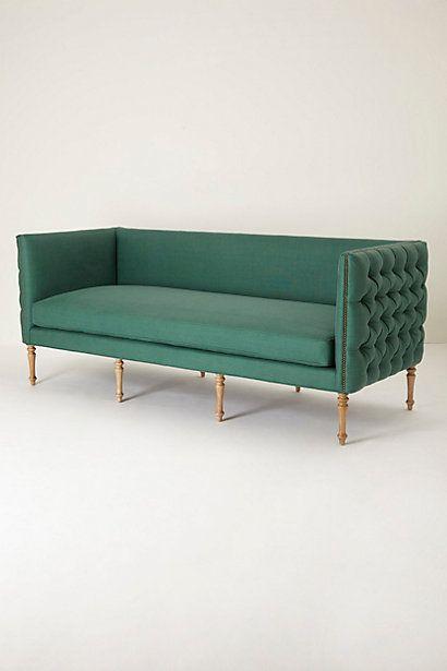 Velvet Tufted Ditte Sofa #anthropologie