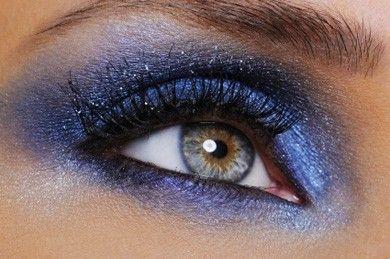 Make up ombretto blu occhi azzurri