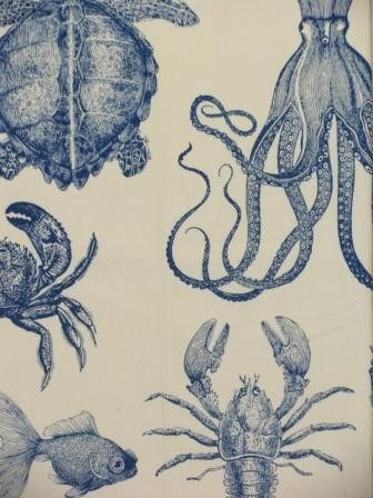 Beautiful sea life fabric!