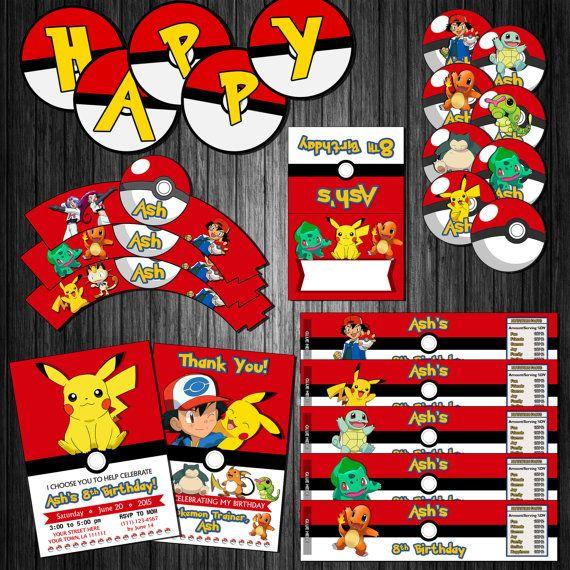 Pokemon DIY Printable Birthay Party Decoration Kit by KirovArts
