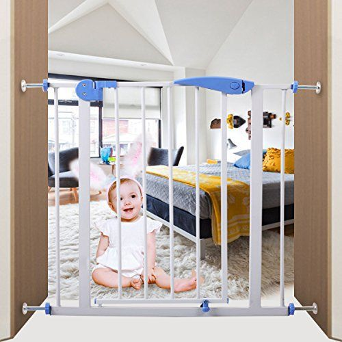 This Tall Gate boasts iron construction for durability and strength, providing security you can rely on for those moments when you can't be within arm's reach of your child. This sturdy gate is ideal for doorways and hallway openings. The gate also works to contain pets to one part of... see more details at https://bestselleroutlets.com/baby/safety/product-review-for-iron-baby-safety-gate-locking-system-door/
