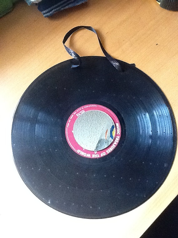 Upcycled Vinyl Record Earring Holder By Wiccadstargazer On