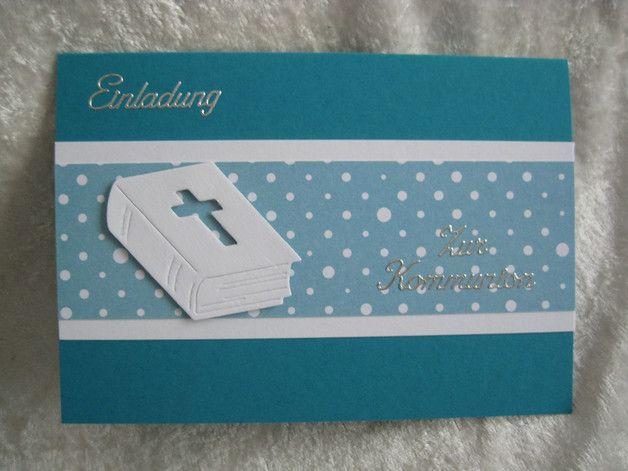 Einladungskarte Zur Kommunion Bibel