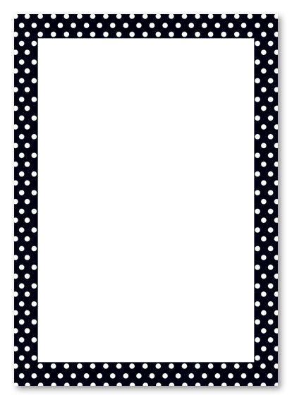 polka dot border clip art