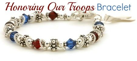 4th of July Special! Honoring our Troops Bracelet  10% off ~ Coupon Code PIN10 http://bluegiraffeboutique.com/products/honoring-our-troops-bracelet.html