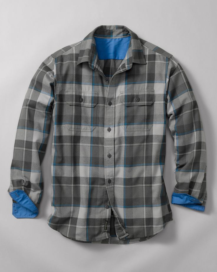 Travex expedition flannel shirt ultrasoft hollow core for Polyester lined flannel shirts